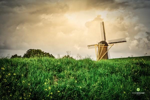 Windmühle 40x60 Acrylglas