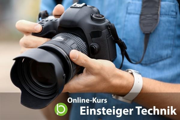 """Online Fotokurs """"Einsteiger Technik"""""""